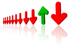 Business illustration. Business graph with arrows, economic recovery Stock Photo