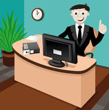 Business illustration. Business man. Vector. Cartoon business illustration. Business man Royalty Free Stock Photography