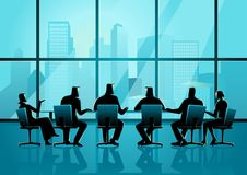 Business people having a meeting in executive conference room Royalty Free Stock Photos