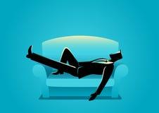 Businessman Taking A Nap On Sofa Royalty Free Stock Image