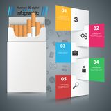 Harmful cigarette, viper, smoke, business infographics. Business illustration of a cigarette and harm stock illustration