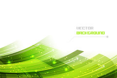 Business  illustration with green abstract wavy pattern, glitter and arrows. Stock Image