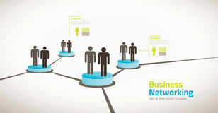 Business illustration of networking people Stock Photo