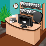 Business illustration. Office. Vector. Cartoon business illustration. Office Stock Photo