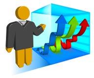 Business illustration for presentation Stock Images