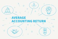 Business illustration showing the concept of average accounting. Return Stock Images
