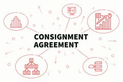 Business illustration showing the concept of consignment agreeme. Nt Stock Images
