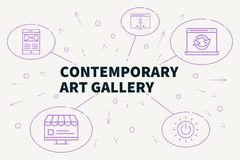 Business illustration showing the concept of contemporary art ga. Llery Stock Photo