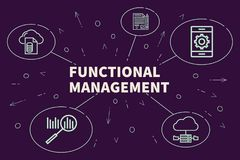 Business illustration showing the concept of functional management royalty free illustration
