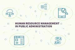 Business illustration showing the concept of human resource management in public administration royalty free illustration
