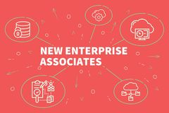 Business illustration showing the concept of new enterprise asso. Ciates Stock Photos