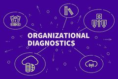 Business illustration showing the concept of organizational diag. Nostics Stock Photo