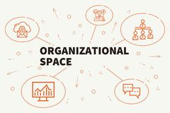 Business illustration showing the concept of organizational spac. E Stock Images