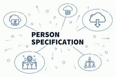 Business illustration showing the concept of person specificatio. N Stock Photography