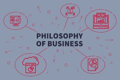 Business illustration showing the concept of philosophy of busin. Ess Royalty Free Stock Photos