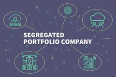 Business illustration showing the concept of segregated portfolio company vector illustration