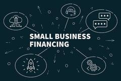 Business illustration showing the concept of small business financing Stock Images