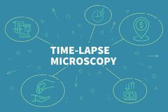Business illustration showing the concept of time-lapse microsco. Py Royalty Free Stock Photo