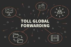 Business illustration showing the concept of toll global forward royalty free illustration