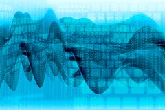 Business illustration with waves Stock Images
