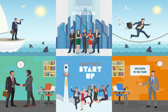Business illustrations set Stock Photos