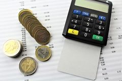An business image with money and a pan - concept royalty free stock photography