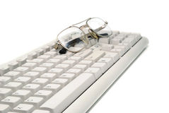 Business Image of Spectacles On  Keyboard Royalty Free Stock Images