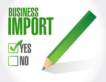 Business import check list illustration design Royalty Free Stock Photography