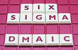 Business Improvement: Six Sigma. Six Sigma (6σ) is a popular approach to improving business processes. DMAIC is the initials of the steps used to introduce it royalty free stock images