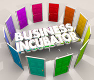 Business Incubator Startup Lab New Company Doors Center 3d Illus. Tration Stock Image