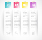 Business index infographics template with 4 data. Can be used for workflow layout, diagram, number options, web design, presentati Royalty Free Stock Photo