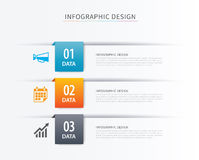 Business index infographics template with 3 data. Can be used  Stock Photos