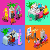 Business Indian 03 Isometric People Stock Photos