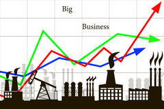 The business industry. Big business money industry resources Economics power Stock Photography