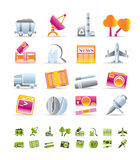 Business and industry icons stock illustration