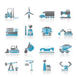 Business and industry icons. Icon set Royalty Free Stock Image