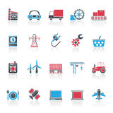 Business and industry icons Royalty Free Stock Photos