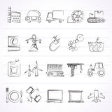Business and industry icons Stock Photography