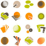 Business and Industry Logos 2. Set of 12 Logos for use in Business stock illustration