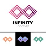 Business Infinity Symbol Abstract Logo design  template.Financial Fashion Jewelry Logotype concept icon. Business Infinity Symbol Abstract Logo design  template Stock Images
