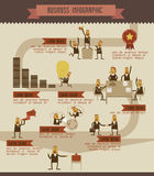 Business info graphic  Illustrator Royalty Free Stock Images
