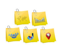 Business info graphic memo post Royalty Free Stock Image