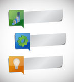 Business info graphic paper. illustration Stock Images