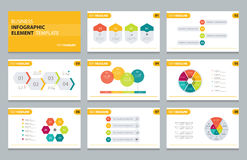 Business info graphic presentation element template Stock Photography