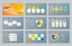 Business info graphic presentation element template Stock Image