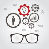 Business info graphic Stock Images