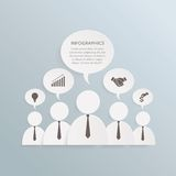 Business info graphic Royalty Free Stock Photography