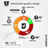 Business Info-graphics concepts with circle and ic Stock Photo