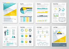 Business info graphics vector elements for corporate brochures Royalty Free Stock Images