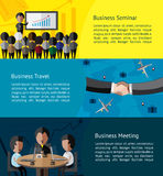 Business infographic activities banner of businessman  Stock Images